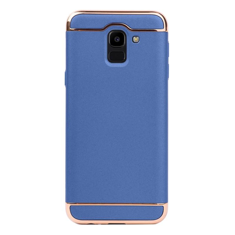 Луксозен кейс/калъф от 3 части за Samsung Galaxy J6 (2018), Case, Твърд, Син