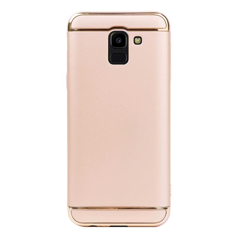 Луксозен кейс/калъф от 3 части за Samsung Galaxy J6 (2018), Case, Твърд, Златист