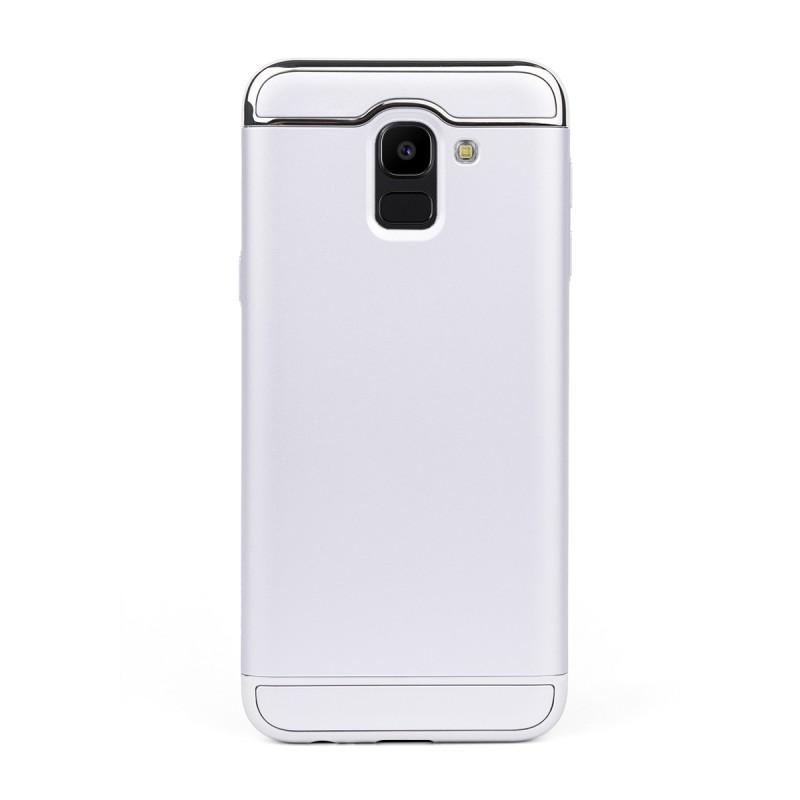 Луксозен кейс/калъф от 3 части за Samsung Galaxy J6 (2018), Case, Твърд, Сребрист