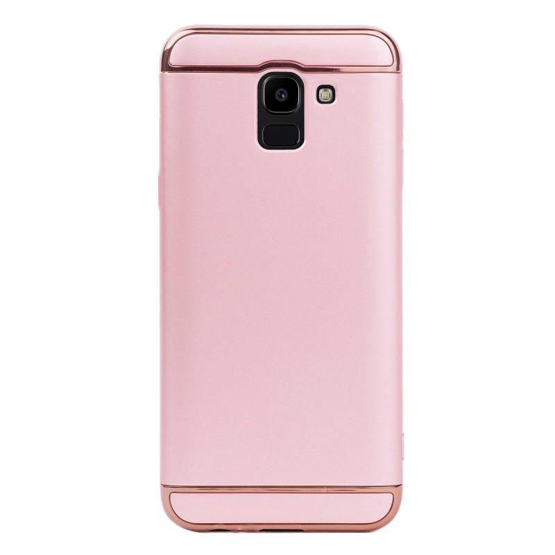 Луксозен кейс/калъф от 3 части за Samsung Galaxy J6 (2018), Case, Твърд, Розово злато