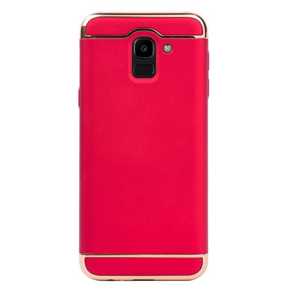 Луксозен кейс/калъф от 3 части за Samsung Galaxy J6 (2018), Case, Твърд, Червен