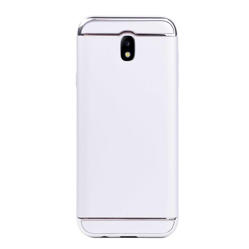 Луксозен кейс/калъф от 3 части за Samsung Galaxy J7 (2017), Case, Твърд, Сребрист