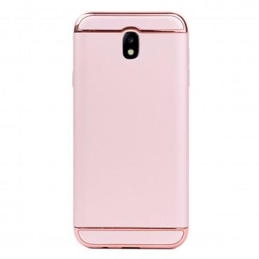Луксозен кейс/калъф от 3 части за Samsung Galaxy J7 (2017), Case, Твърд, Розово злато