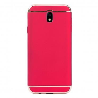 Луксозен кейс/калъф от 3 части за Samsung Galaxy J7 (2017), Case, Твърд, Червен