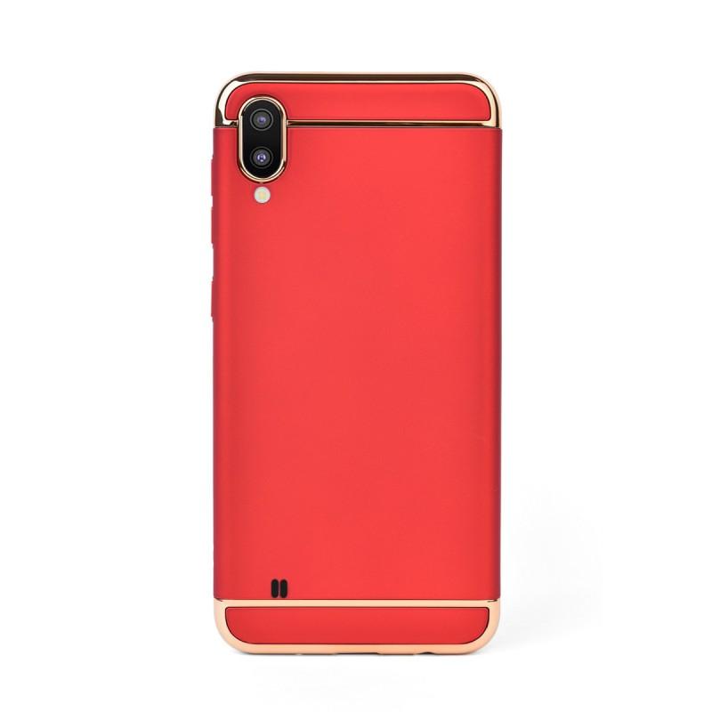 Луксозен кейс/калъф от 3 части за Samsung Galaxy M10, Case, Твърд, Червен