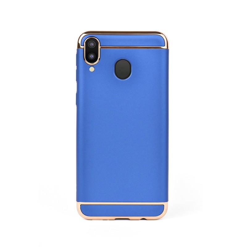 Луксозен кейс/калъф от 3 части за Samsung Galaxy M20, Case, Твърд, Син