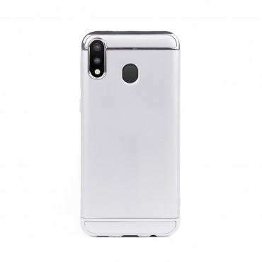 Луксозен кейс/калъф от 3 части за Samsung Galaxy M20, Case, Твърд, Сребрист