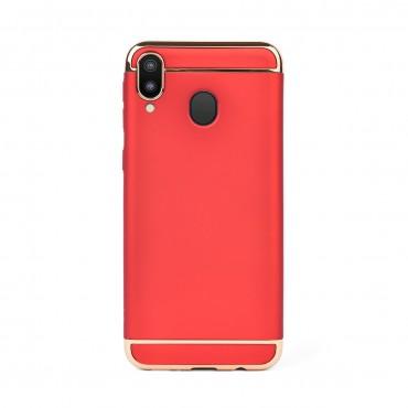 Луксозен кейс/калъф от 3 части за Samsung Galaxy M20, Case, Твърд, Червен