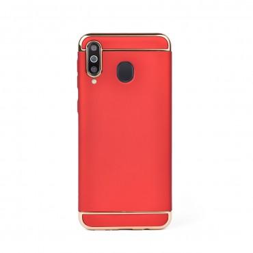 Луксозен кейс/калъф от 3 части за Samsung Galaxy M30, Case, Твърд, Червен