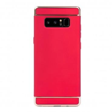 Луксозен кейс/калъф от 3 части за Samsung Galaxy Note 8, Case, Твърд, Червен