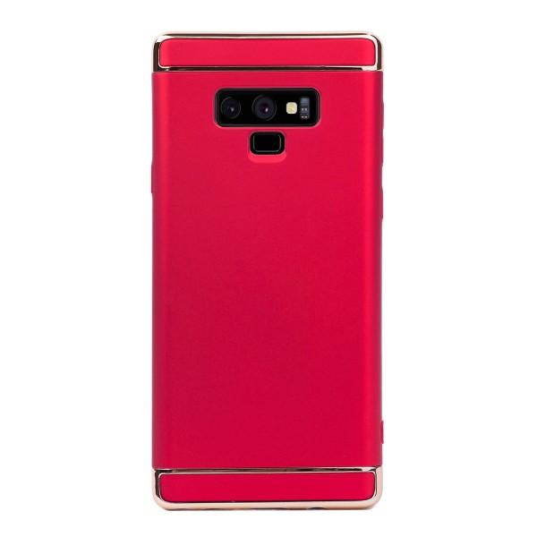 Луксозен кейс/калъф от 3 части за Samsung Galaxy Note 9, Case, Твърд, Червен