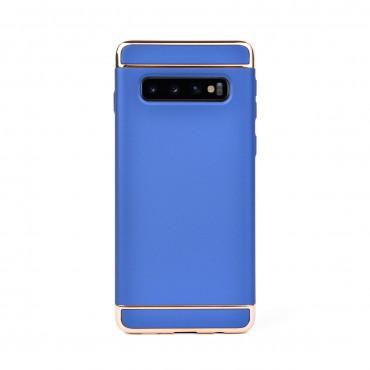 Луксозен кейс/калъф от 3 части за Samsung Galaxy S10, Case, Твърд, Син