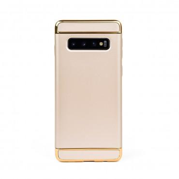 Луксозен кейс/калъф от 3 части за Samsung Galaxy S10, Case, Твърд, Златист