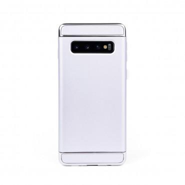 Луксозен кейс/калъф от 3 части за Samsung Galaxy S10, Case, Твърд, Сребрист