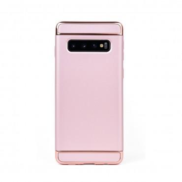 Луксозен кейс/калъф от 3 части за Samsung Galaxy S10, Case, Твърд, Розово злато