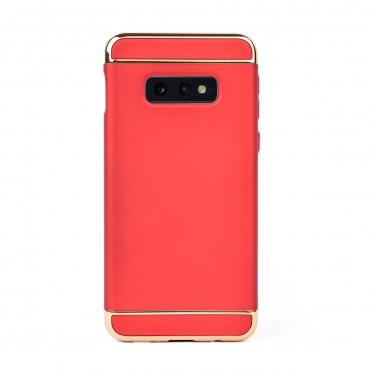 Луксозен кейс/калъф от 3 части за Samsung Galaxy S10e/ S10 Lite, Case, Твърд, Червен
