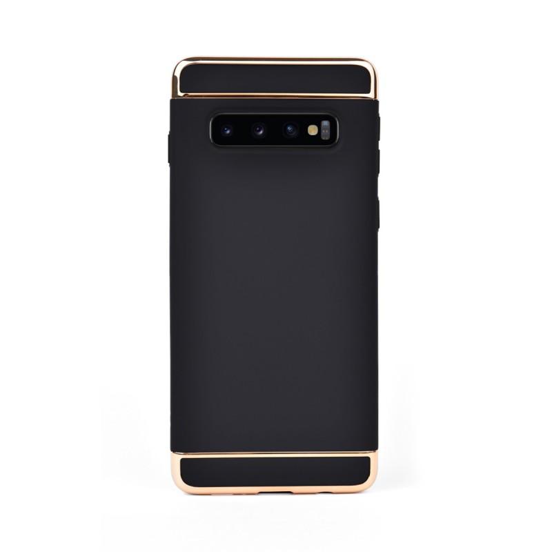 Луксозен кейс/калъф от 3 части за Samsung Galaxy S10 Plus, Case, Твърд, Черен