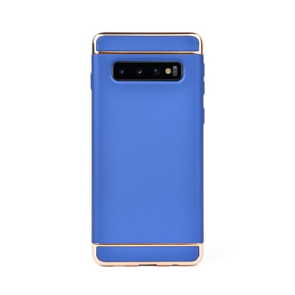 Луксозен кейс/калъф от 3 части за Samsung Galaxy S10 Plus, Case, Твърд, Син