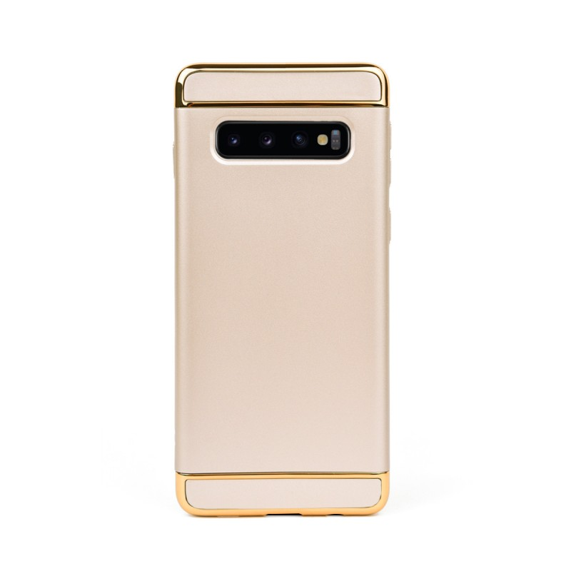 Луксозен кейс/калъф от 3 части за Samsung Galaxy S10 Plus, Case, Твърд, Златист
