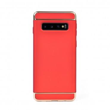 Луксозен кейс/калъф от 3 части за Samsung Galaxy S10 Plus, Case, Твърд, Червен