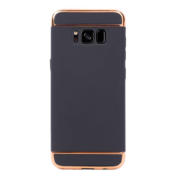 Луксозен кейс/калъф от 3 части за Samsung Galaxy S8 Plus, Case, Твърд, Черен