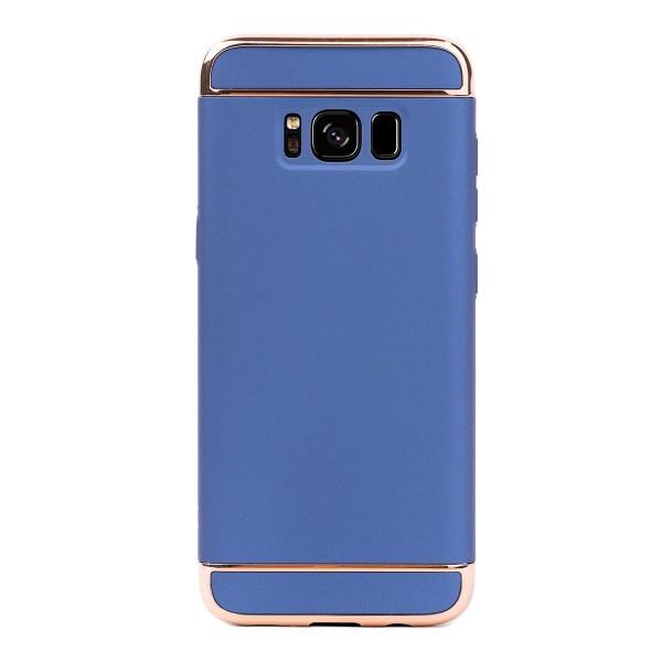 Луксозен кейс/калъф от 3 части за Samsung Galaxy S8, Case, Твърд, Син