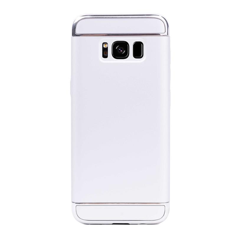 Луксозен кейс/калъф от 3 части за Samsung Galaxy S8, Case, Твърд, Сребрист