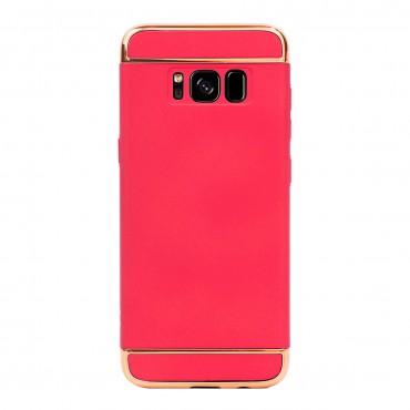 Луксозен кейс/калъф от 3 части за Samsung Galaxy S8, Case, Твърд, Червен