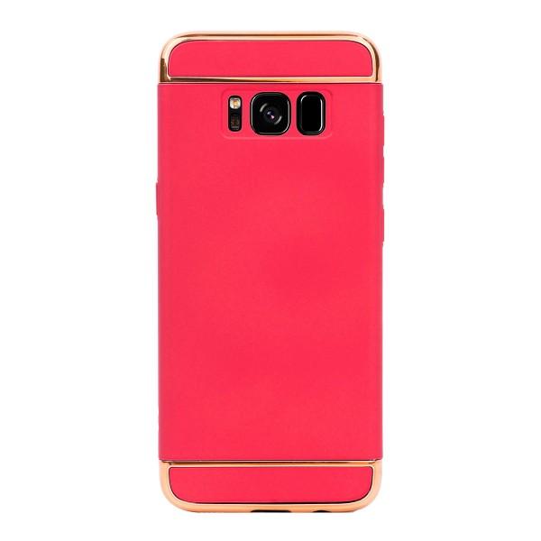 Луксозен кейс/калъф от 3 части за Samsung Galaxy S8 Plus, Case, Твърд, Червен