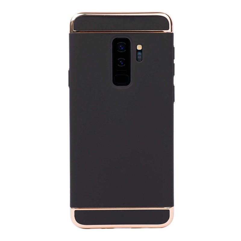 Луксозен кейс/калъф от 3 части за Samsung Galaxy S9 Plus, Case, Твърд, Черен