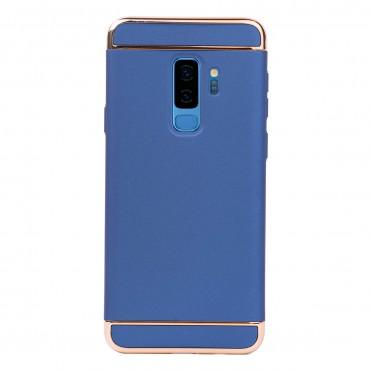 Луксозен кейс/калъф от 3 части за Samsung Galaxy S9 Plus, Case, Твърд, Син