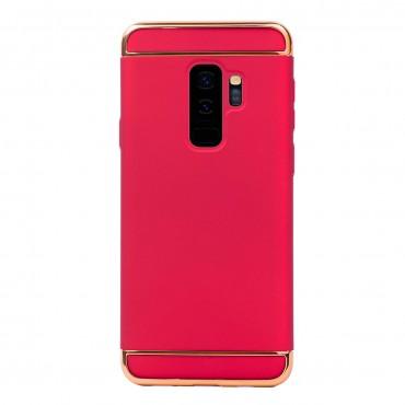 Луксозен кейс/калъф от 3 части за Samsung Galaxy S9 Plus, Case, Твърд, Червен