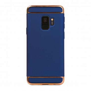 Луксозен кейс/калъф от 3 части за Samsung Galaxy S9, Case, Твърд, Син