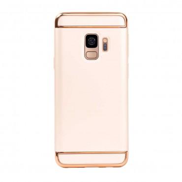 Луксозен кейс/калъф от 3 части за Samsung Galaxy S9, Case, Твърд, Златист