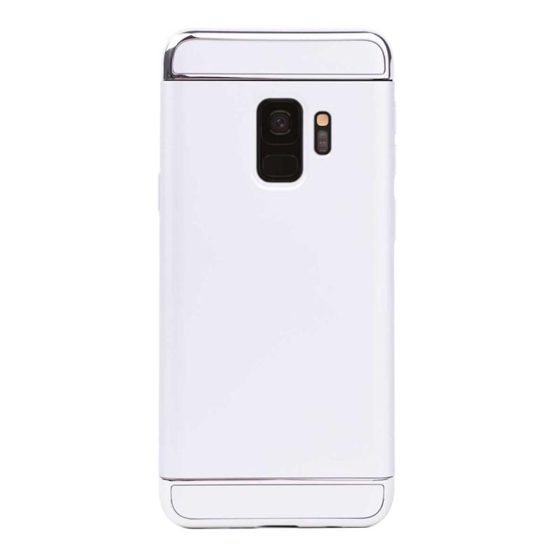 Луксозен кейс/калъф от 3 части за Samsung Galaxy S9, Case, Твърд, Сребрист
