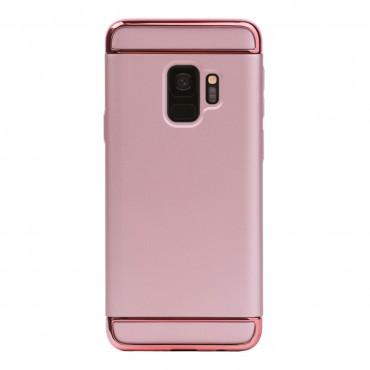 Луксозен кейс/калъф от 3 части за Samsung Galaxy S9, Case, Твърд, Розово злато