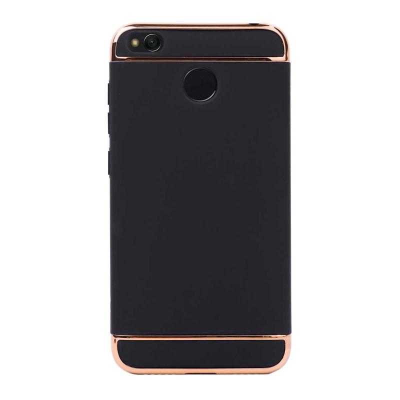 Луксозен кейс/калъф от 3 части за Xiaomi Redmi 4X, Case, Твърд, Черен