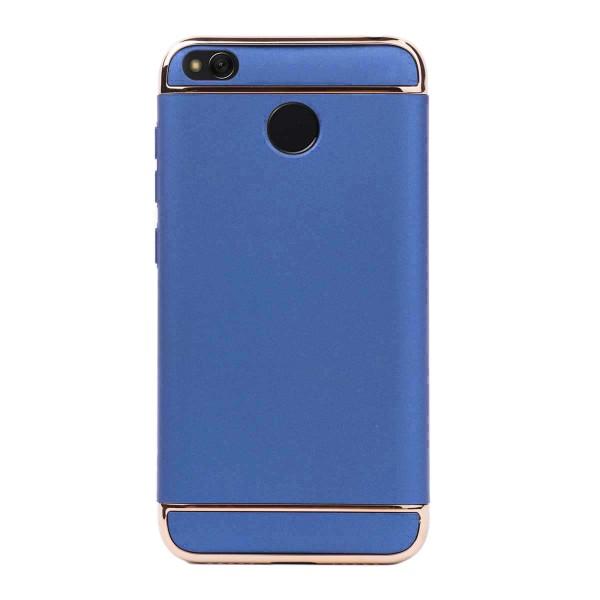 Луксозен кейс/калъф от 3 части за Xiaomi Redmi 4X, Case, Твърд, Син