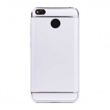 Луксозен кейс/калъф от 3 части за Xiaomi Redmi 4, Case, Твърд, Сребрист