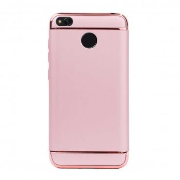 Луксозен кейс/калъф от 3 части за Xiaomi Redmi 4, Case, Твърд, Розово злато