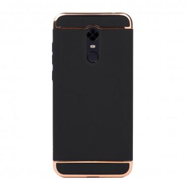 Луксозен кейс/калъф от 3 части за Xiaomi Redmi 5 Plus, Case, Твърд, Черен