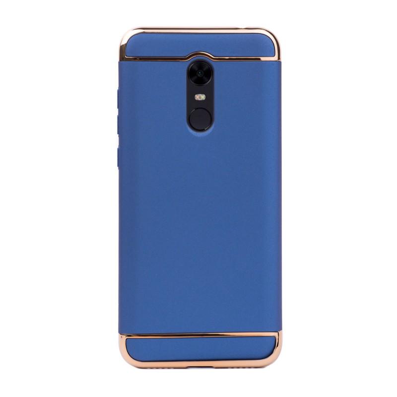 Луксозен кейс/калъф от 3 части за Xiaomi Redmi 5 Plus, Case, Твърд, Син