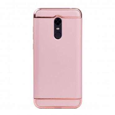 Луксозен кейс/калъф от 3 части за Xiaomi Redmi 5 Plus, Case, Твърд, Розово злато