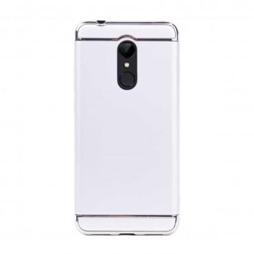 Луксозен кейс/калъф от 3 части за Xiaomi Redmi 5, Case, Твърд, Сребрист
