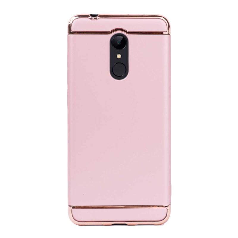 Луксозен кейс/калъф от 3 части за Xiaomi Redmi 5, Case, Твърд, Розово злато