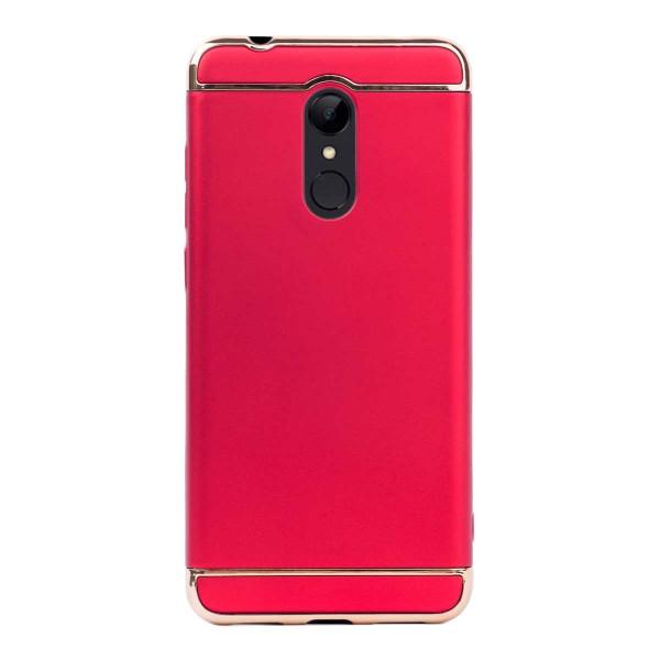 Луксозен кейс/калъф от 3 части за Xiaomi Redmi 5, Case, Твърд, Червен