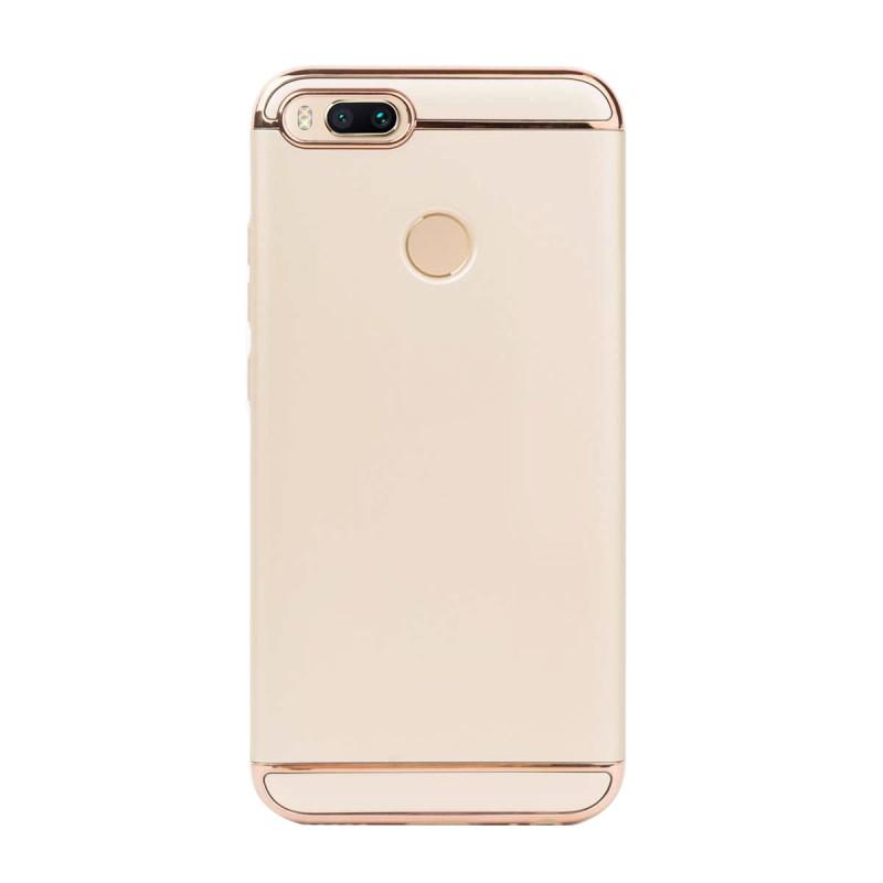 Луксозен кейс/калъф от 3 части за Xiaomi Mi A1, Case, Твърд, Златист