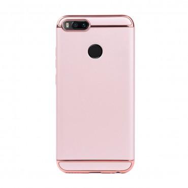 Луксозен кейс/калъф от 3 части за Xiaomi Mi A1, Case, Твърд, Розово злато