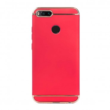 Луксозен кейс/калъф от 3 части за Xiaomi Redmi Mi A1, Case, Твърд, Червен