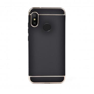 Луксозен кейс/калъф от 3 части за Xiaomi Redmi 6 Pro, Case, Твърд, Черен